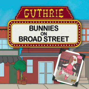 Bunnies On Broad Street artwork and Lulu Bunny