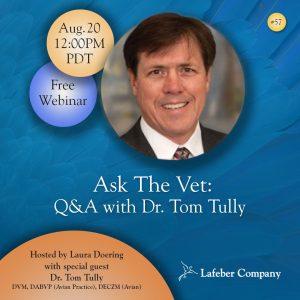 webinar 57 slide promotes Dr. Tom Tully's Ask The Vet