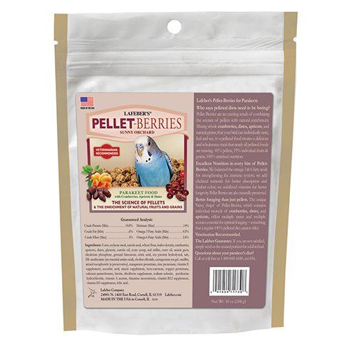 Parakeet pellet-berries