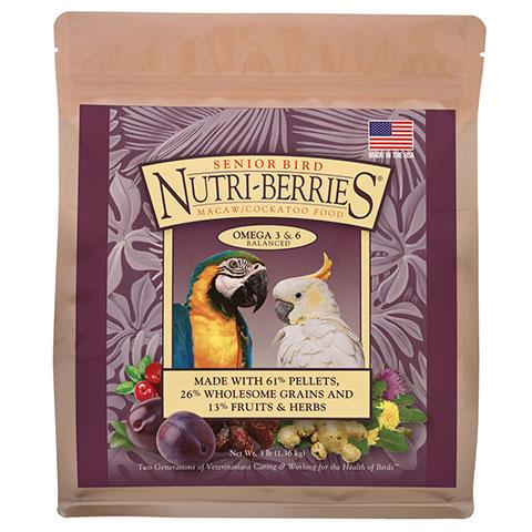 Nutri-berries for senior macaws & cockatoos
