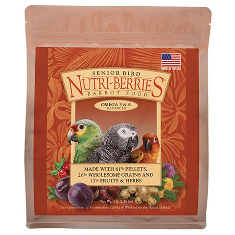 Nutri-berries for senior Parrots