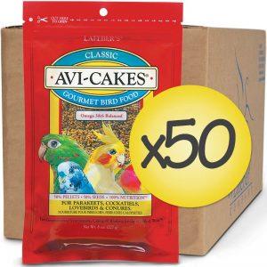 Case of 50 Classic Avi-Cakes for Small Birds 8 oz