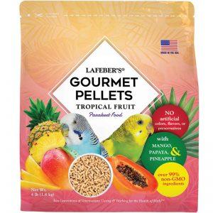 Parakeet Tropical Fruit Gourmet Pellets 4 lbs