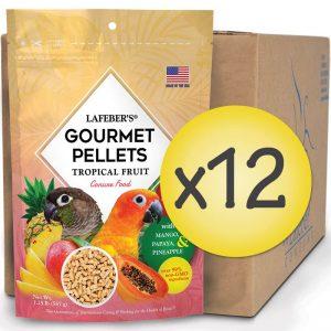 Case of 12 Conure Tropical Fruit Gourmet Pellets 1.25 lbs