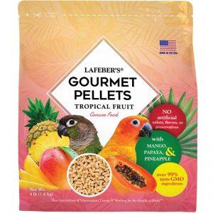 Conure Tropical Fruit Gourmet Pellets 4 lbs