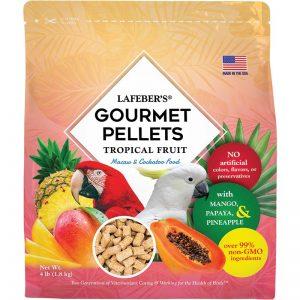Macaw Tropical Fruit Gourmet Pellets 4 lbs