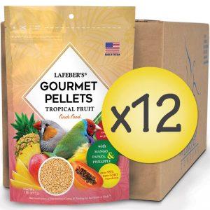 Case of 12 Finch Tropical Fruit Gourmet Pellets 1 lb