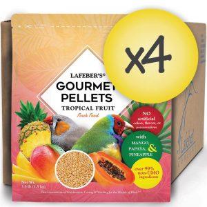 Case of 4 Finch Tropical Fruit Gourmet Pellets 3.5 lb