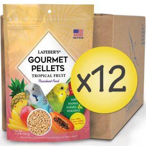 Case of 12 Parakeet Tropical Fruit Gourmet Pellets 1.25 lbs