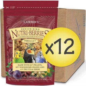 Case of 12 Senior Bird Nutri-Berries for Cockatiel 10 oz