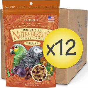 Case of 12 Senior Bird Nutri-Berries for Parrot 10 oz