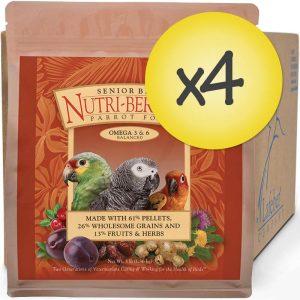 Case of 4 Senior Bird Nutri-Berries for Parrot 3 lb