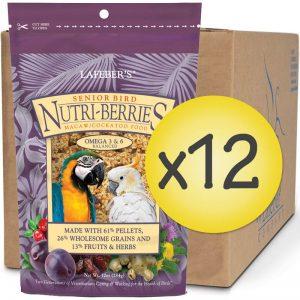 Case of 12 Senior Bird Nutri-Berries for Macaw & Cockatoo 10 oz