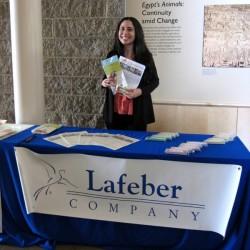 Lafeber Company Student Representative, Cheryl Yashar, at the UC Davis 2014 AEMC Symposium.