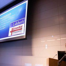 Sponsored by Lafeber Company, Dr. Dennis Christen of Georgia Aquarium speaks at the Cornell University Behavior Symposium.