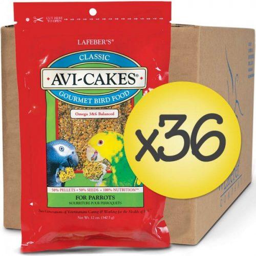 Case of 36 Classic Avi-Cakes for Parrot Avi-Cakes 12 oz (340 g)