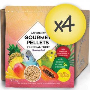 Case of 4 Parakeet Tropical Fruit Gourmet Pellets 4 lbs (1.8 kg)