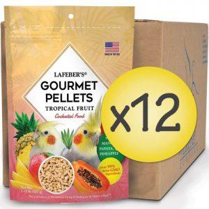 Case of 12 Cockatiel Tropical Fruit Gourmet Pellets 1.25 lbs (567 g)