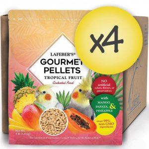 Case of 4 Cockatiel Tropical Fruit Gourmet Pellets 4 lbs (1.8 kg)