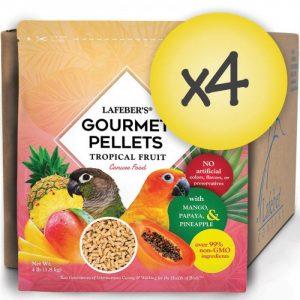 Case of 4 Conure Tropical Fruit Gourmet Pellets 4 lbs (1.8 kg)