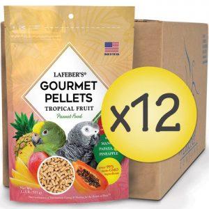 Case of 12 Parrot Tropical Fruit Gourmet Pellets 1.25 lbs (567 g)