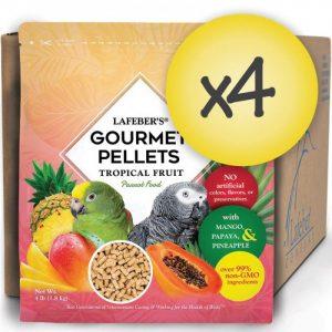 Case of 4 Parrot Tropical Fruit Gourmet Pellets 4 lbs (1.8 kg)