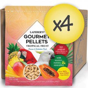 Case of 4 Macaw Tropical Fruit Gourmet Pellets 4 lbs (1.8 kg)
