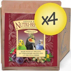 Case of 4 Senior Bird Nutri-Berries for Cockatiel 3lb (1.56 kg)