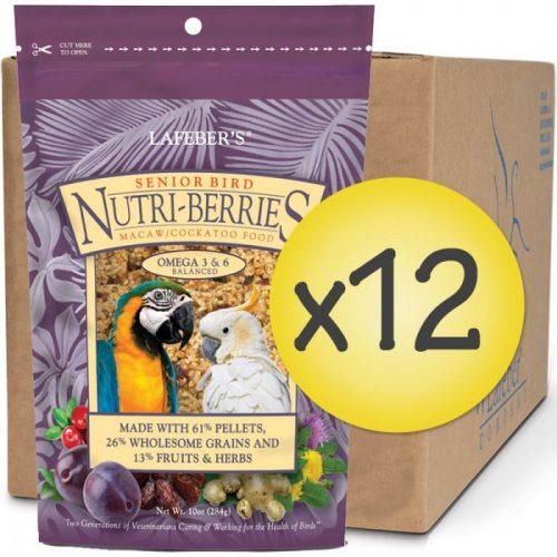 Case of 12 Senior Bird Nutri-Berries for Macaw Cockatoo 10 oz (284 g)