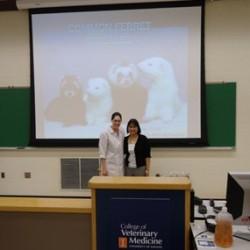 Dr. Stephanie Moy with Lafeber Company student representative, Melissa Elliott