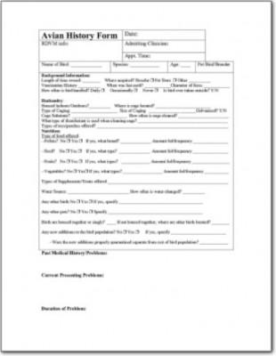 Avian History Form 2