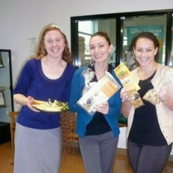 Western University veterinary medical students display (human) food and (bird food) samples