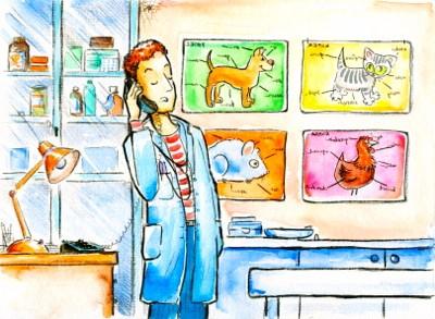 Veterinarian illustration